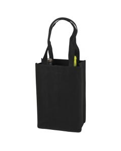 Black bag with gray trim 2 bottle